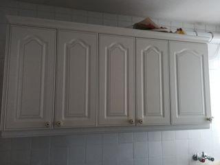 Armarios de cocina, color blanco, gran capacidad
