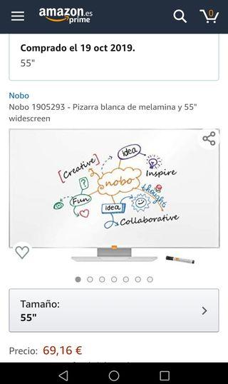PIZARRA BLANCA XXL-55 PULGADAS