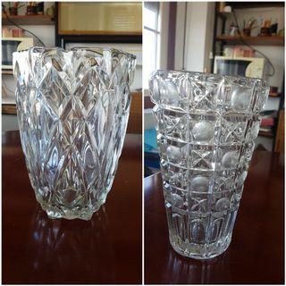 Jarron cristal antiguo