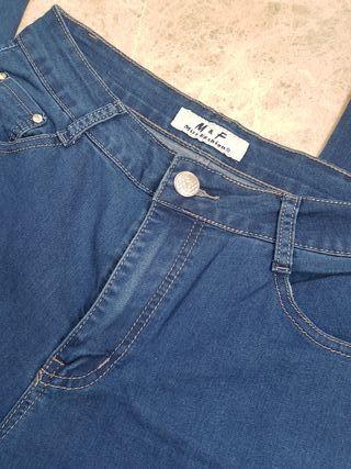 Pantalón pitillo elástico talla 40