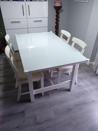 Mesa extensible blanca NORDEN de Ikea