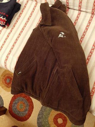 chaqueta pana marrón el niño