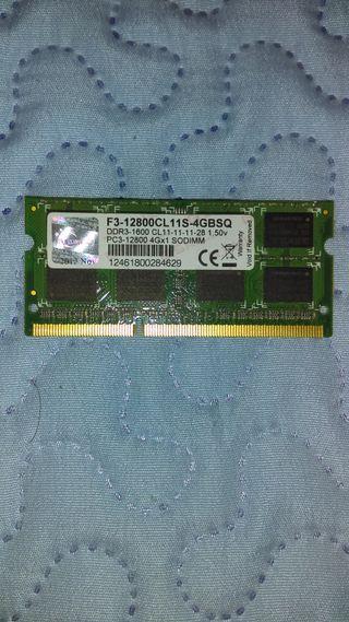 G.Skill 4GB DDR3-1600 F3-12800CL11S-4GBSQ