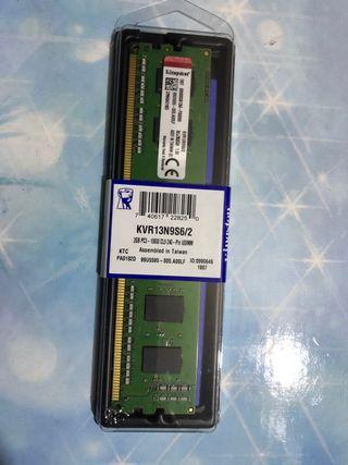 Memoria RAM 2GB DDR3 1333Mhz KINGSTON (SIN ABRIR)