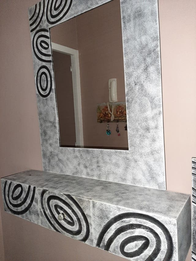 Mueble recibidor + espejo