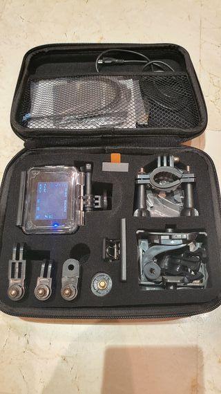 Action Cam Apeman 4K + accesorios y carcasa
