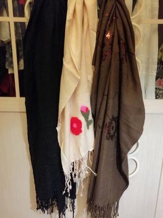 2.95€/unidad FOULARD marrón, rosa palo, negro