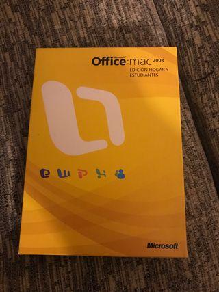 Office Mac 2008 edición hogar y estudian