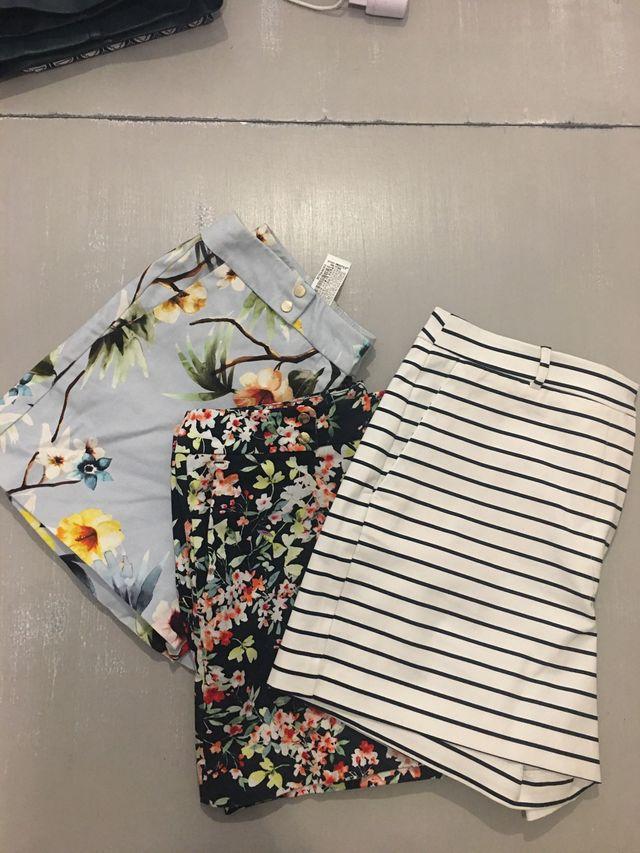 Bermudas de Zara 2x8€ 1x5€