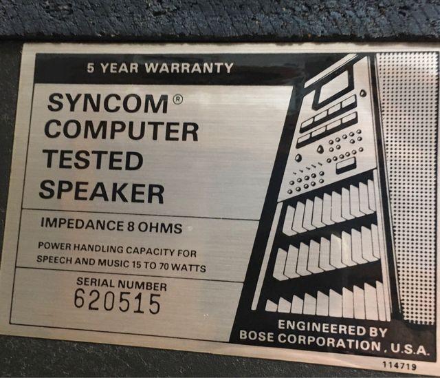 Altavoces by BOSE Studio syncom computer