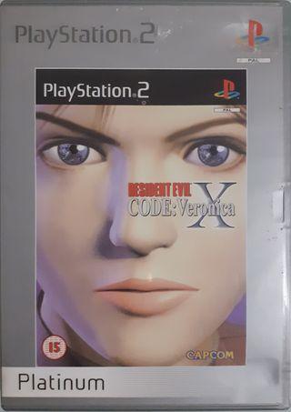 RESIDENT EVIL - CODE VERÓNICA X - Platinum - PS2