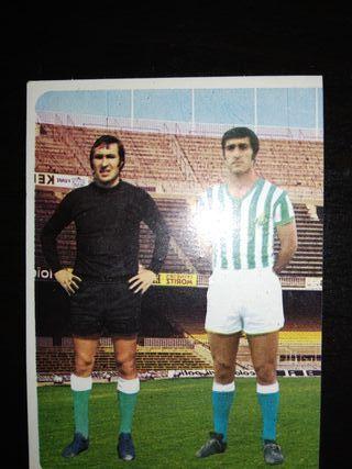 cromo de fútbol del 1975/1976