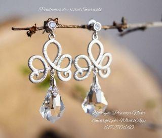 Pendientes de cristal Swarovski novia joyas joya