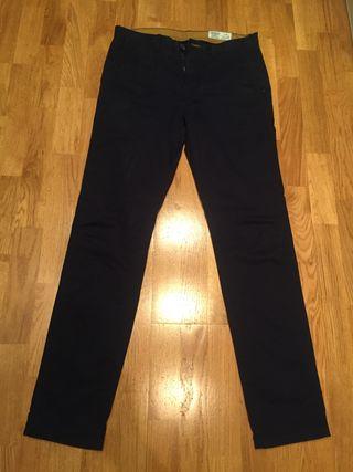 Pantalon Springfield chinos talla 40 azul marino