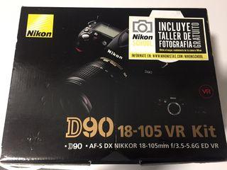 Nikon D90 casi sin uso, como nueva