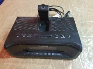 Reloj Despertador-Radio Proyector hora en Techo