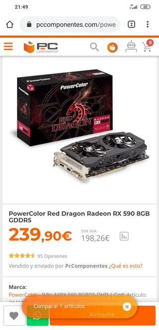 tarjeta grafica RX590 8GB