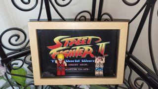 Cuadro vitrina Street fighter lego NUEVO