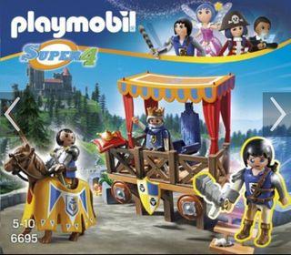 Playmobil torneo justa medieval tribuna caballeros