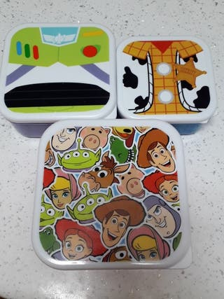 ¡URGENTE! Pack 3 tuppers Toy Story 4