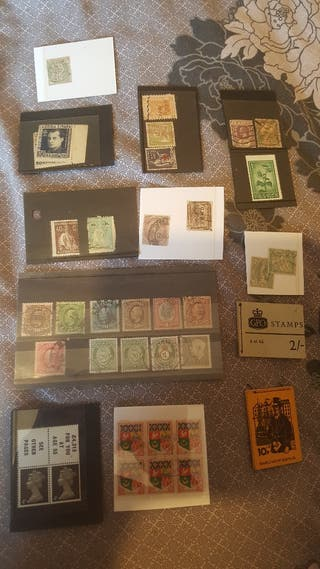 old various stamps