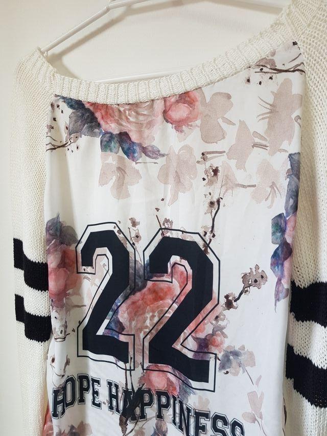 Jersey blanco/estampado talla S/M