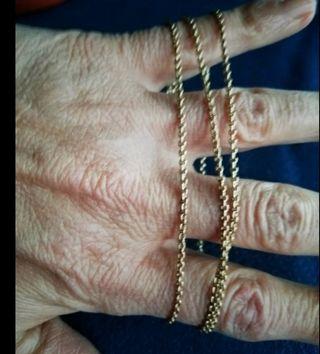 cadena eslabones 50cm, oro bajo 9k