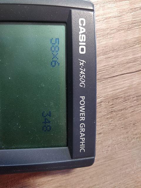 Calculadora Casio FX 7450G