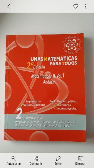 Libros Unas matemáticas para todos