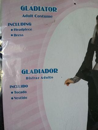 disfraz, dama, gladiadora, caballera..