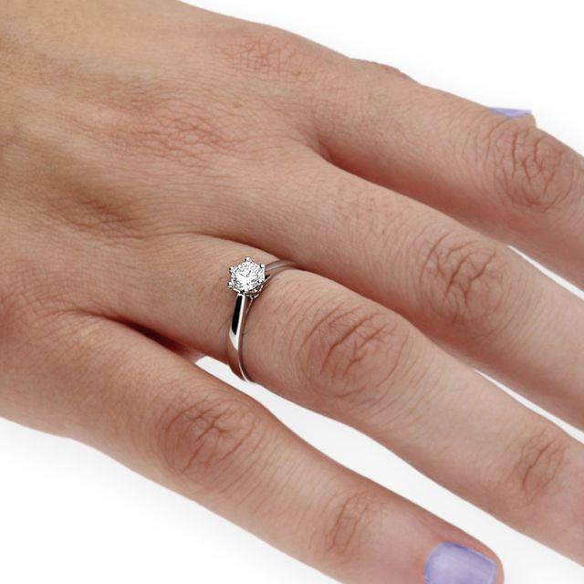Solitario con Diamante 0,51 ct Certificado IGI