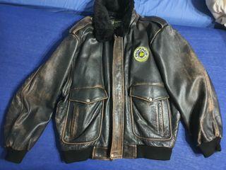 2 Cazadoras bultaco vintage 100% piel. tallas XL
