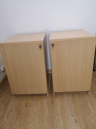 2 armarios bajos 60x50x77