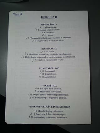APUNTES BIOLOGÍA II BACHILLERATO