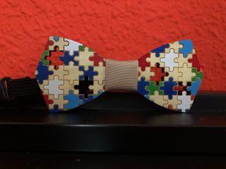 Pajarita niño madera puzzle
