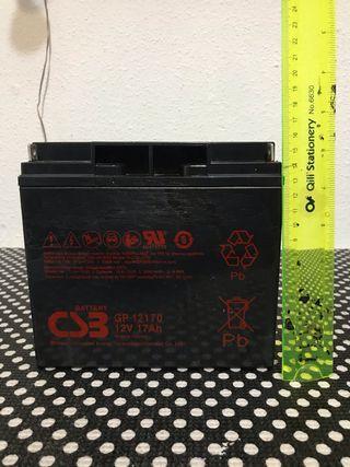 Batería recargables de 12v 17 amp