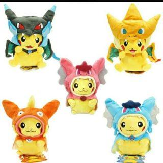 Peluche Pikachu Disfrazado Eevee - Pokémon