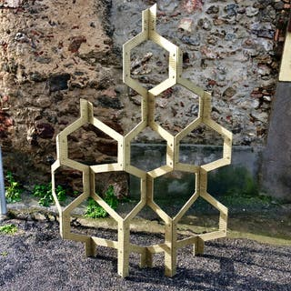 Biombo escultura diseño vintage mid-century