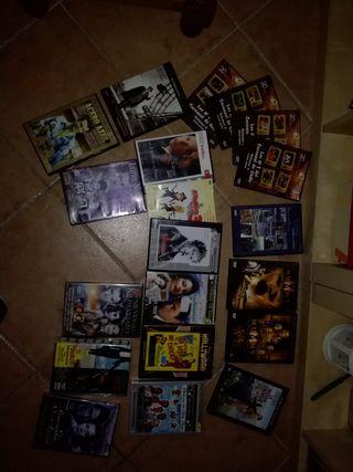 colección de dvds.
