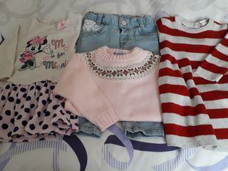 Lote de ropa niña,talla de 9/12 meses