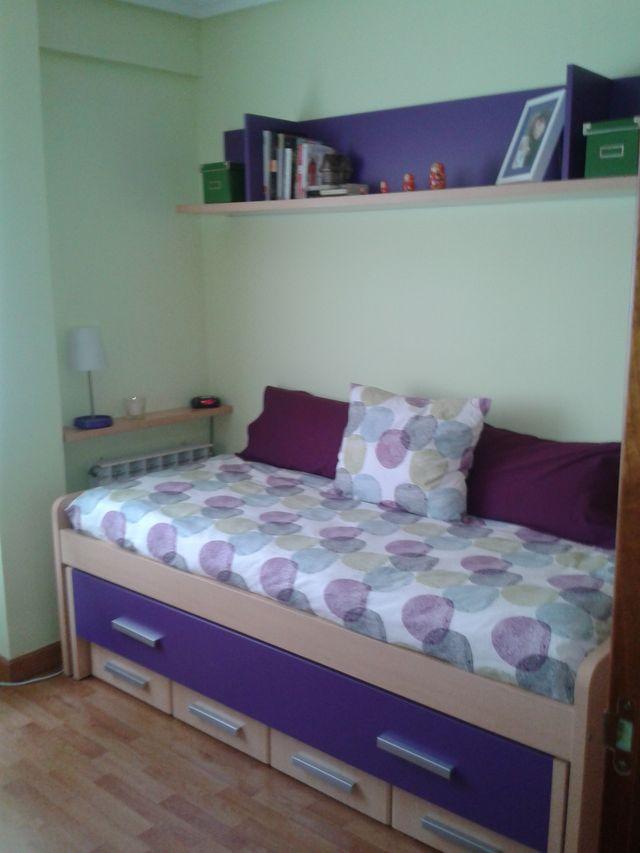 Cama nido + escritorio, habitación juvenil