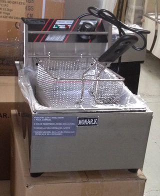 freidora con 1 cestas industrial nueva 6-litros