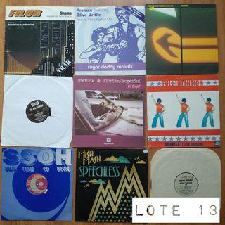 Lote 9 discos de vinilo de House