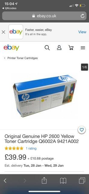 Cartuchos de tóner de impresora hp
