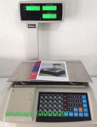 Bascula balanza mostrador NUEVA ticket peso 30kg