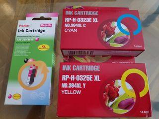 Cartuchos color impresora HP