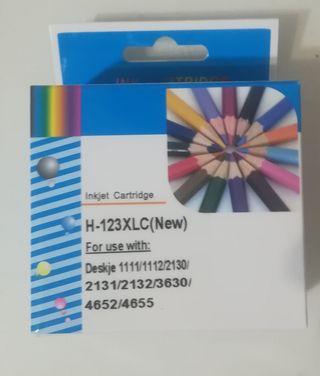 Cartucho tinta color impresora HP