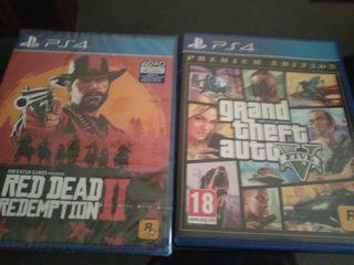 red dead redemption nuevo y GTA V seminuebo