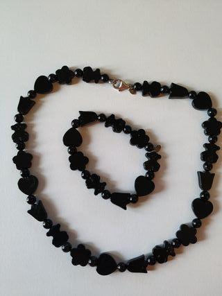Conjunto Collar y Pulsera Onix Negro TOUS ORIGINAL