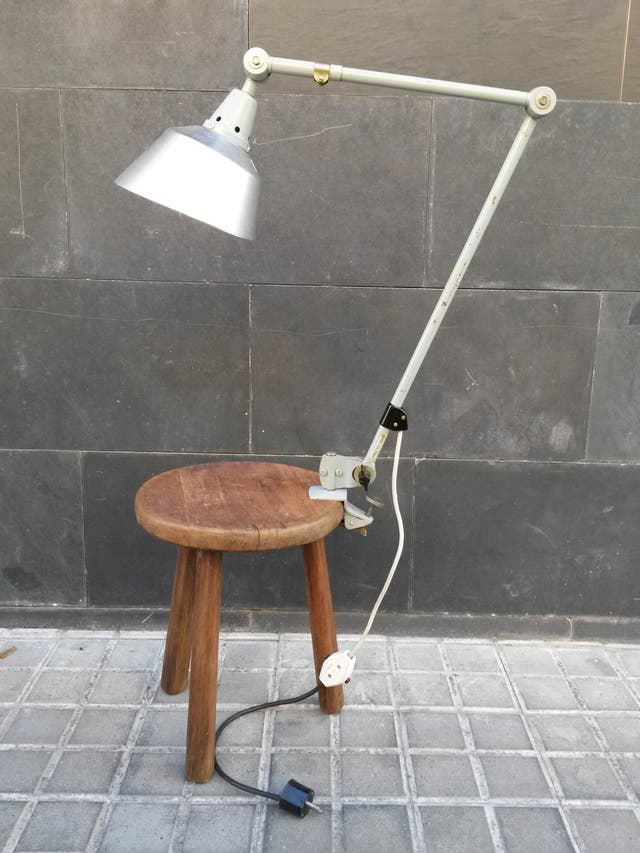 Lámpara original vintage años 40 Flexo Bauhaus